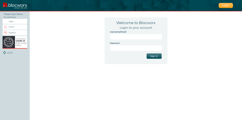 Blocworx Interface New UI